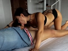 Perfect Morning Blowjob And Anal Creampie With Horny Teen Wife