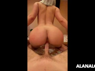 Russian Teen with Perfect Body jumping on my Dick – Amateur AlanaLoves