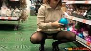 Upskirt flash pics - Public flashing in stores, no panties