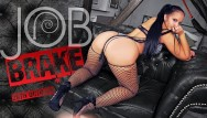 Amateur porn jobs Vrconk busty brunette in fishnets masturbating during job break vr porn