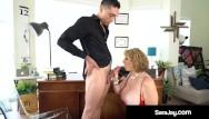 Breast feeding milk drying up Thick pawg boss lady sara jay face fucks a big black cock milks him dry