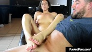 9 1 2 weks masturbation scene - 18yo 5 foot 10 jackie ohh gets her size 9 1/2 feet fucked cummed on