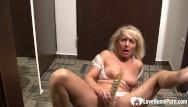 Flikr boobs Mature blonde babe with big boobs likes to masturbate