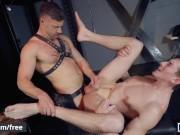 Mencom - Leather stepdad fucks young twink ass -Tristan Jaxx Jack Hunter