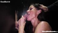 Blowjob glory Busty mom eats strangers cocks in gloryhole