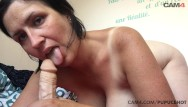 Supersize tits 4 - Tanned mom gently sucks her huge dildo