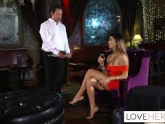 Alexis Zara Gives Her Waiter A Footjob