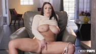 Xxx big huge asses - Hot babe with big tits angela white solo fingers her shaved twat