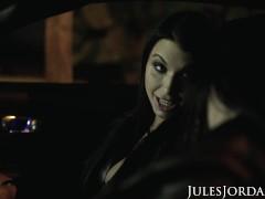 Jules Jordan - Tag Squad Couple Angela Milky & Ivy Lebelle Locate Darkish Meat