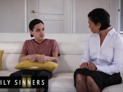 Family Sinners - Latina Step-mom Screws Small Stepson