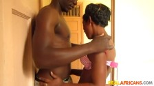 HORNY BLACK COUPLE FUCK IN TOILET!