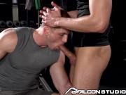 Roman Todd Face Fucked On Workout Bench - FalconStudios
