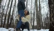 Street boys 2009 sperm boys Cum in mouth after blowjob in the winter forest