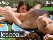 Lesbea straight teen anya krey teased by young lesbian sabrisse
