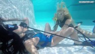 Swim suits showing pussies - Hot lesbo teens in the swimming pool licking and masturbating
