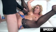 Huge studs doing white sluts - Super slut cherie deville gets her face and pussy punished by huge cock