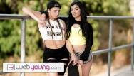 Sexy web girl Teen sk8r girl seduces straight babe-webyoung
