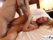 Nicole Aniston's pussy devours cock!