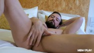 Gay and suit and tie men - Hot suited guy jerking off ass play