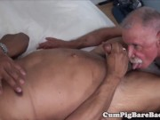 hairy mature bear enjoys dickriding his lover