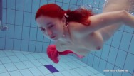 Camber sands naked swimming - Petite teen swims naked in the pool