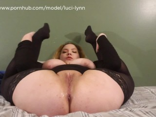 Nasty Teen Whore Squirting All Over the Bed