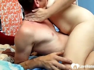 horny aunt gets her sweet love tunnel penetrated