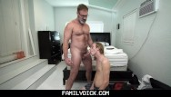 Gingko leaf gay Ginger twink stepson blows his bear stepdad