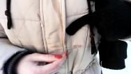 Peeing while giving blowjob Stepsister gives a blowjob while outdoors