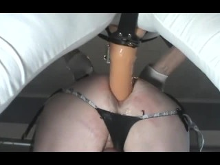 SUBMISSIVE HUSBAND-Rough Pegging and Fisting
