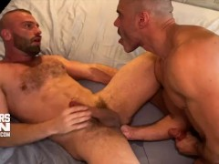 Manuel Skye's Humungous Uncircumcised Man Sausage Plumbs Donnie Argento's Cock-squeezing Hairy Ass
