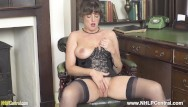 Big fat juicy elder boobs - Hot brunette joi flaunts big natural boobs juicy pussy in corselette nylons
