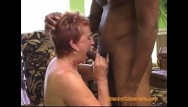 Redheaded blowjob - Gangbang with a dirty granny part 1