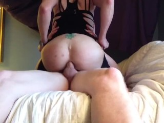 Methed out white girl anal ride on a 9″ hillbilly cousins dick