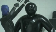 Latex inflation story fantasy 3 Heavy rubber latex lesbian teens inflateable suit breath play control mask