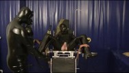 Rubber latex girl fetisch - Latex master and slave girl breathplay rubber sheet fucking sniffing dildo