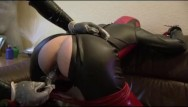 Men pissed pants - Rubber slave girl piss pants mouthgag latex sheet breath control anal dildo