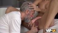Twwn fucking an old man - Vip4k. mesmerizing sexy model jenny smart fucked by old man