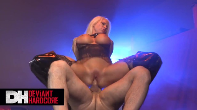 Deviant hardcore -Busty inked Blonde sub Lolly Ink gets dominated