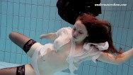 Megarotic bikini Swimming pool action with ribkina mega hot