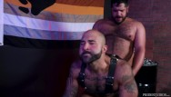 Gay guy in leather - Leather bears share experiences fuck raw - bearback