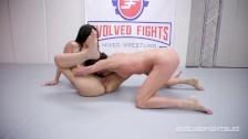 Amazon lesbians wrestling Sofie Marie uses a strapon on Ashlee Juliet