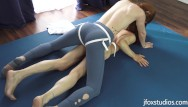 Model nude for art class Strapon yoga class - glutes and core workout part 2 - 4k