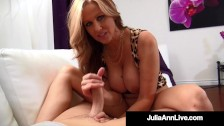 Hot Holy Shit! Dick Licking Milf Julia Ann Milks Cock In Her ... Guess?
