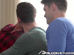 Love & Lust In Montreal: Gay Train Threesome - FalconStudios