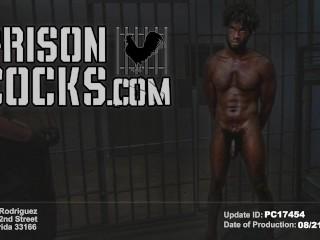 PRISON COCKS – Tough Guy Makes Newbie His Prison Bitch