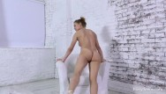 Shemale goldens bridge - Sexy naked gymnast does bridges and spreads