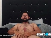 Flirt4Free - Vergoso M - Sexy Latino with Big Uncut Cock Shoots a Big Load