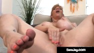 Girls fucked in thick lotion Thick pawg milf sara jay rubs her curvy body masturbates her mature muff