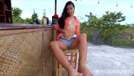 Big tits hq pics Crazy risky masturbation in open-air bar in coronavirus time hq